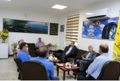 بازدید مدیرعامل و جمعی از مدیران ارشد شرکت آرتاویل تایر از مجتمع صنایع لاستیک یزد